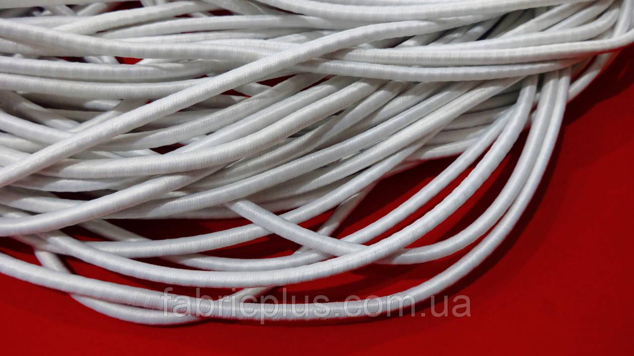 Резинка шляпная 4 мм белая (Турция)