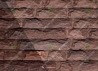 """Плитка Руст песчаник """"Ополье красное"""" KLVIV ширина 6 см., лицевая сторона скол (на палете), фото 1"""