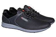 Мужские кроссовки с натуральної кожи большого размера M15 р. 46 47 48 49 50, фото 1