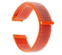 Нейлоновый ремешок Primo для часов Garmin Vivoactive 3 / Vivomove HR / Forerunner 245/645 - Orange, фото 1