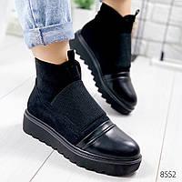 Ботинки женские Gree черные , женская обувь