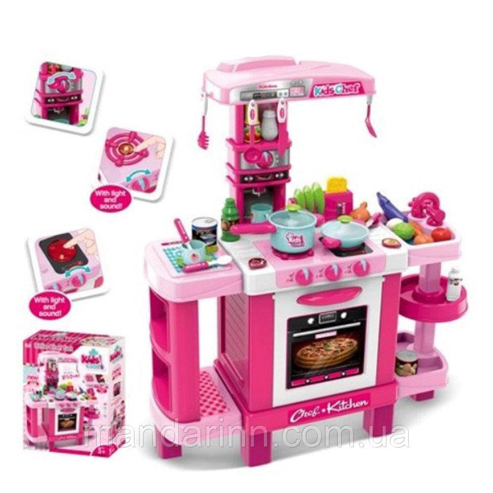 Детская кухня 008-938 плита, духовка, звук, свет, посуда, продукты  (выс. 87см)