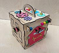 Развивающая игрушка, пазл, БИЗИКУБ 20Х20 СМ