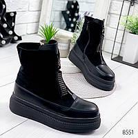 Ботинки женские You черные , женская обувь