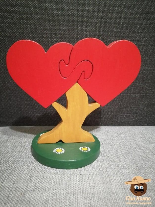 "Итерьерная игрушка- пазл "" Дерево любви"", hand-made"
