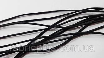Резинка шляпная  1.5 мм черная