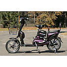 Электрический велосипед ELF-2 фиолетовый, фото 7