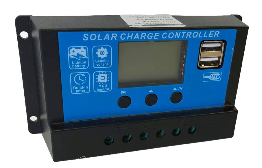Контроллер заряда солнечный 10А 12/24В JUTA DY1024 с дисплеем и USB