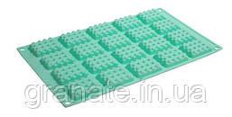 Силиконовая форма для выпечки Печеньки, 4.5х3.5х1 см
