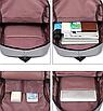 Рюкзак городской Casual Серый с usb выходом, фото 10