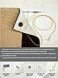 Римская штора Рогожка Димаут молочный кремовый. Бесплатная доставка. Любой размер до 3,5х3,5м. Гарантия., фото 3