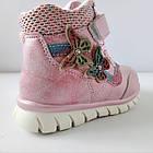 Теплые деми ботинки девочкам, р. 26 (16,5 см), фото 3