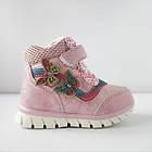 Теплые деми ботинки девочкам, р. 26 (16,5 см), фото 2