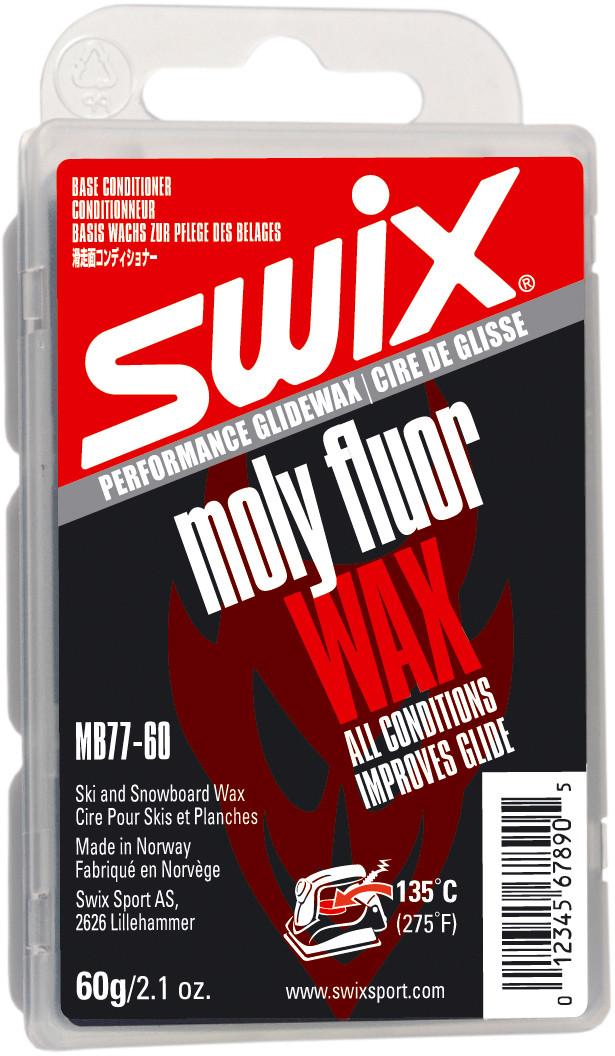 Базовый фторсодержащий парафин Swix MB77 Moly fluor wax 60g