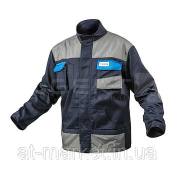 Куртка рабочая темно-синяя, размер L HOEGERT HT5K281-L