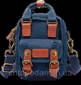 Мини - сумочка Doughnut синяя Код 10-2358