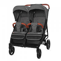 Детская прогулочная коляска для двойни Carrello Connect CRL-5502 Ink Grey