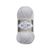 Пряжа классическая Alize Diva №168