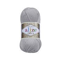 Пряжа классическая Alize Diva №355