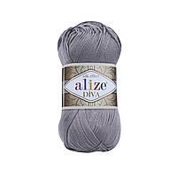 Пряжа классическая Alize Diva №348