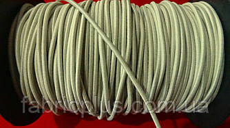 Резинка шляпная 2.5 мм бежевая