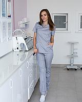 Медицинский женский костюм Топаз серый, фото 1