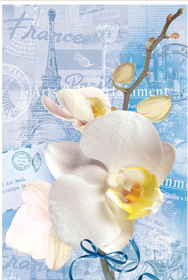 Подарочный пакет СРЕДНИЙ ''Орхидеи'' 17*26*8 см