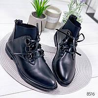 Ботинки женские Esmy черные , женская обувь