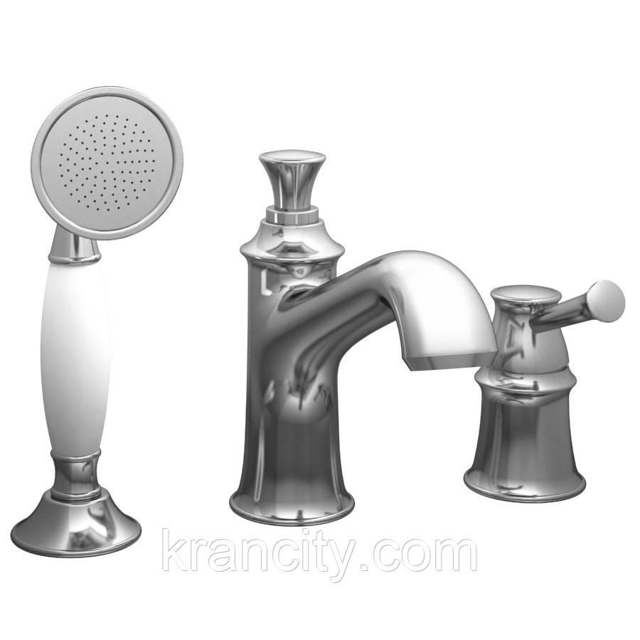 Смеситель для ванны, врезной, на три отверстия IMPRESE PODZIMA LEDOVE ZMK01170105,Чехия
