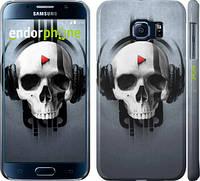 "Чехол на Samsung Galaxy S6 G920 Череп-меломан ""757c-80"""
