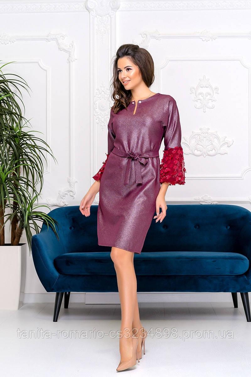 Коктейльное платье Бордо 9177e S M L