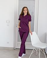 Медицинский женский костюм Топаз фиолетовый, фото 1