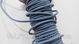 Резинка шляпная 2.5 мм серо-голубая