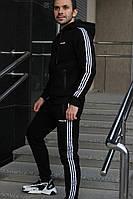 Мужской спортивный утепленный трикотажный костюм Adidas с начёсом (реплика)