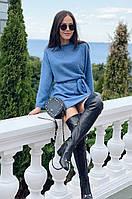 Платье женское Ангоровое пушистое джинс
