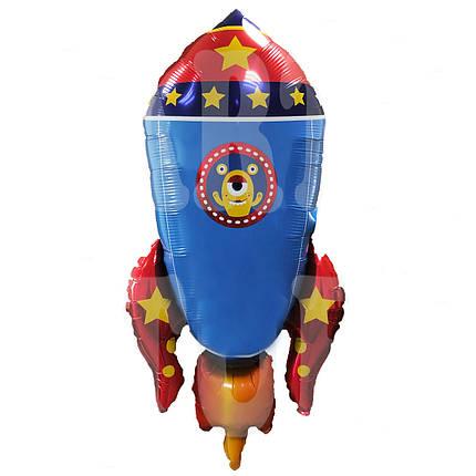 Фол шар фигура Ракета синяя (Китай), фото 2