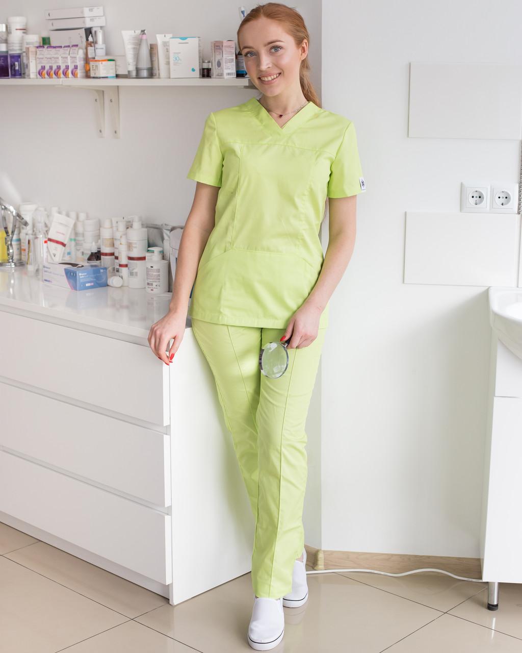 Медицинский женский костюм Топаз лайм