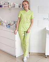 Медицинский женский костюм Топаз лайм, фото 1