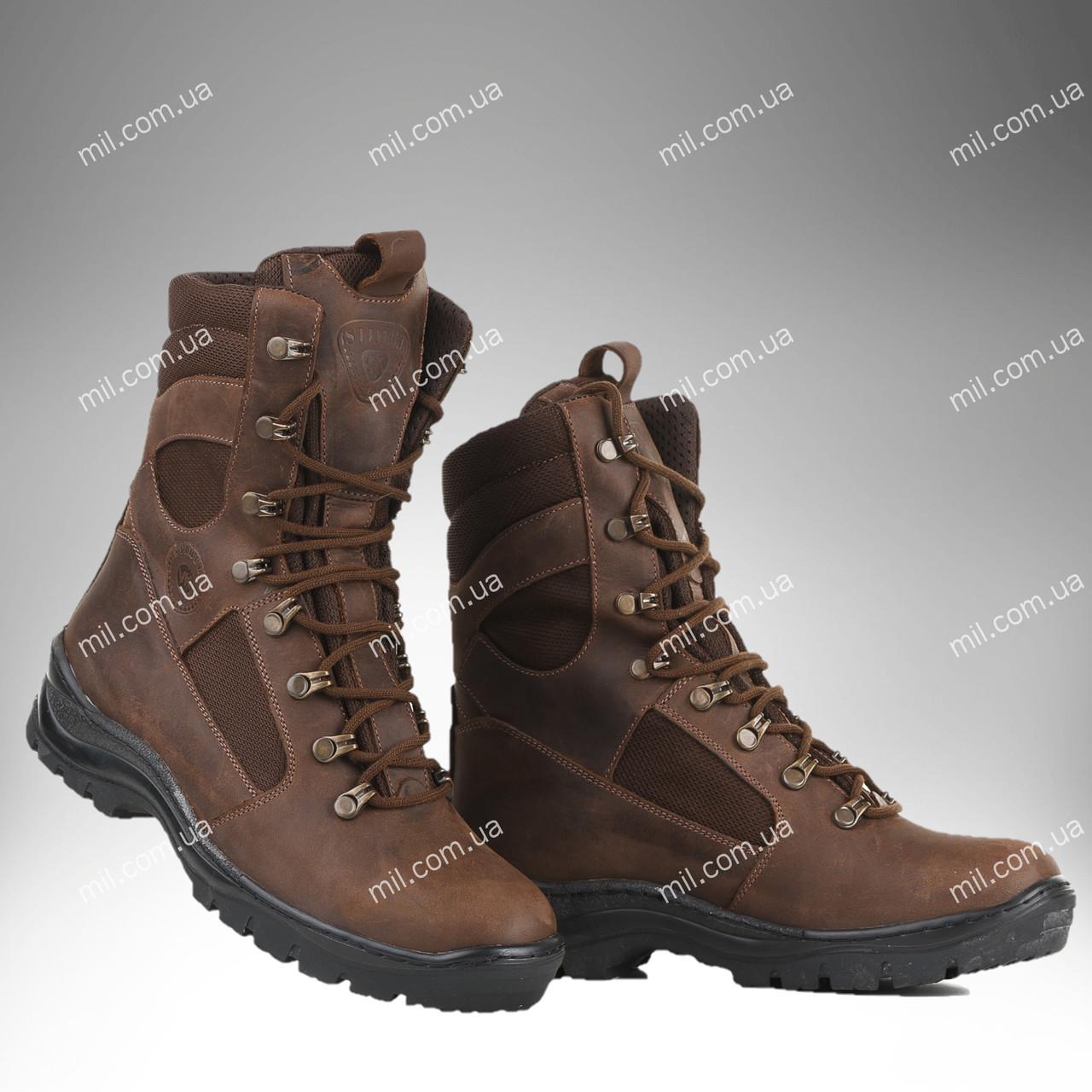 Берцы демисезонные / военная, тактическая обувь GROZA (крейзи)