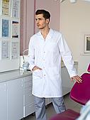 Медицинский мужской халат Берлин, белый
