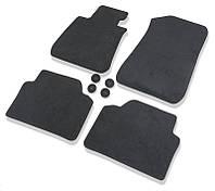 Оригінальний комплект чорних велюрових ковриків BMW 3 (F30, F80), артикул 51477332077