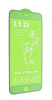 Защитное стекло для iPhone 6 Plus (11D, Full Glue с олеофобным покрытием), цвет белый