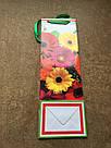 Подарочные бумажные пакеты БУТЫЛКА 12*9*36 см Герберы, фото 3