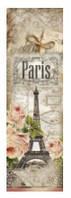 Подарочные бумажные пакеты БУТЫЛКА ''Париж'' (12*9*36)