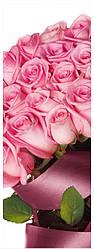 Подарочные бумажные пакеты БУТЫЛКА 12*9*36 см Цветы розовые
