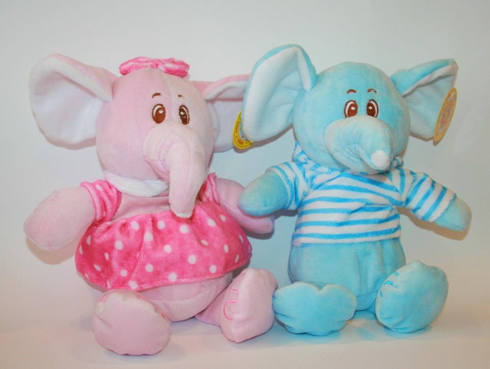 Плюшевый слоник детская мягкая игрушка 25 см