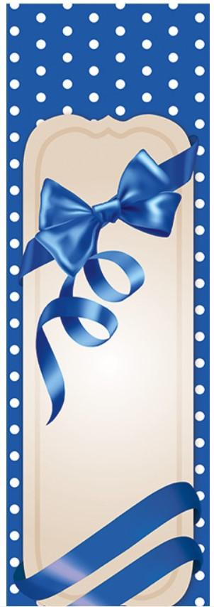 Подарочные бумажные пакеты БУТЫЛКА 12*9*36 см Бантик