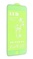 Захисне скло для iPhone 6 / 6S (11D, Full Glue з олеофобним покриттям), колір білий