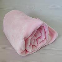 Плед детский из двухстороннего плюша розовый