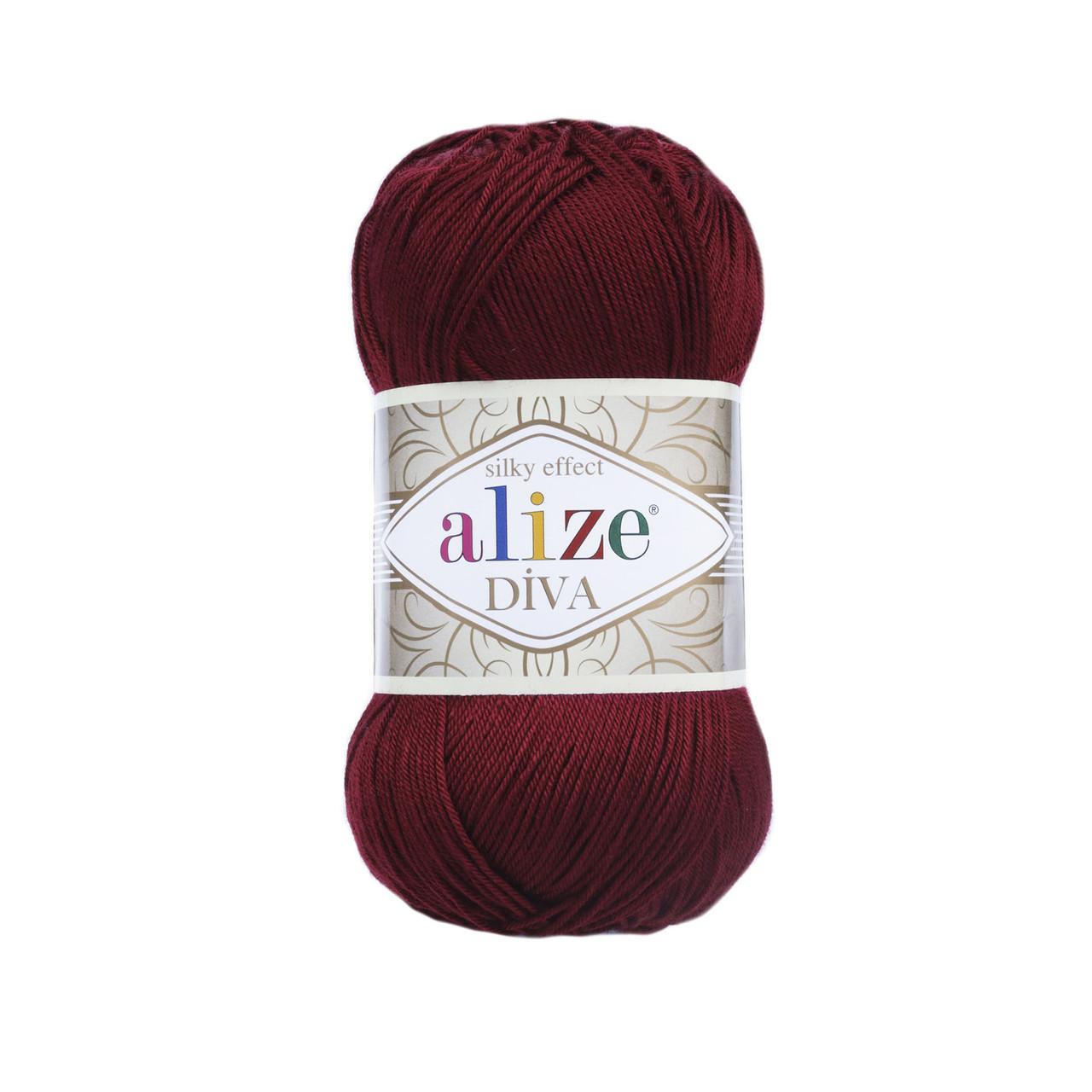 Пряжа класична Alize Diva №57